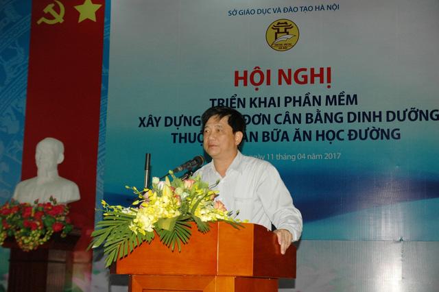 Đồng chí Phạm Xuân Tiến - PGĐ Sở GD-ĐT Hà Nội phát biểu tại Hội nghị