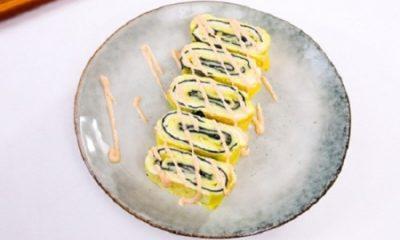 Cách làm trứng cuộn rong biển và phô mai thơm ngon hấp dẫn - 8