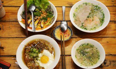 Bún tôm Bình Định được đưa ra Phú Quốc và được biến thể để trở thành món bún quậy thơm ngon